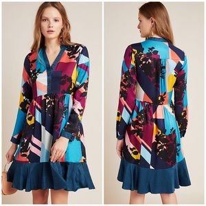 💜COMING SOON💜Anthro Gillian Abstract Shirtdress